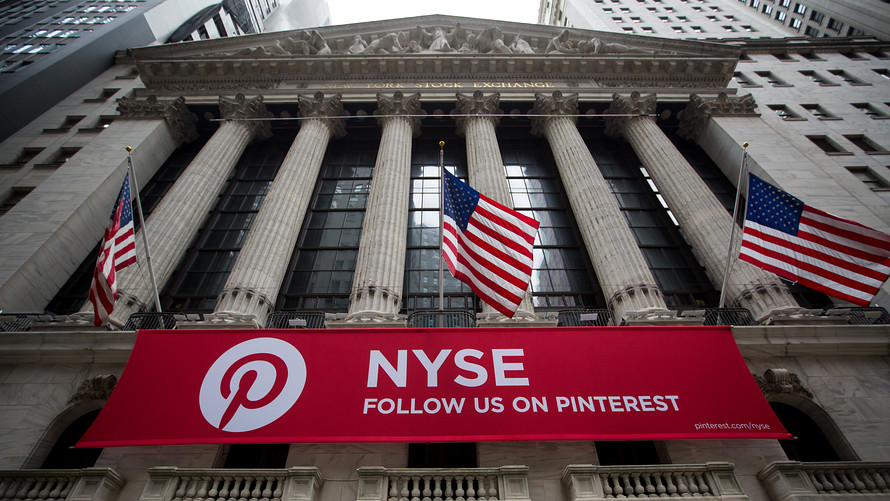 Pinterest 巨幅上市广告已经出现在。纽交所