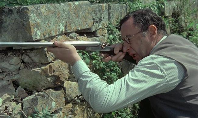 法国电影《老枪》的背景在搏斗后期德国望风披靡之际。