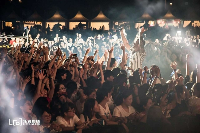 2018混凝草音乐节现场。摄影:李乐为