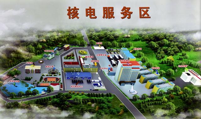 福鼎市硖门畲族乡柏洋村借宁德核电发展之势绘制的核电服务区远景图。摄影/章轲