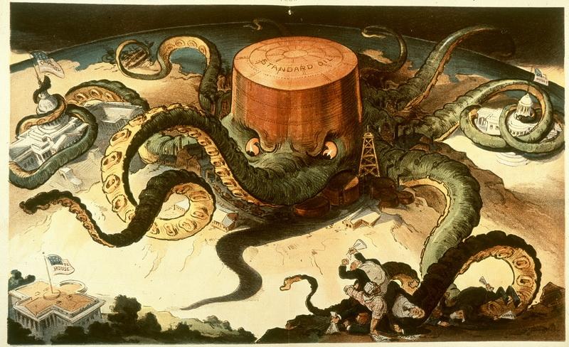 20世纪初的美孚成为美国最大的石油托拉斯