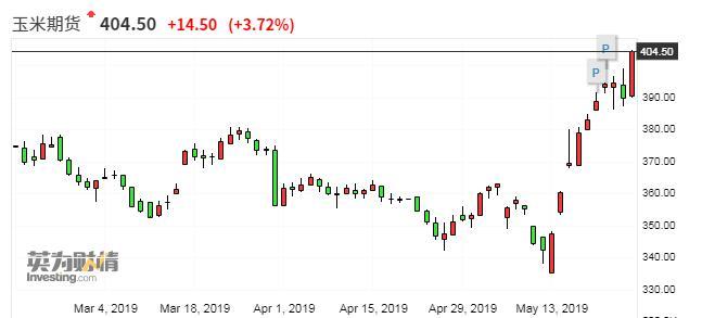 玉米期货两周暴涨近18%