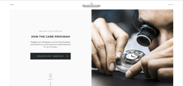 积家客户安心服务计划专属线上平台主页