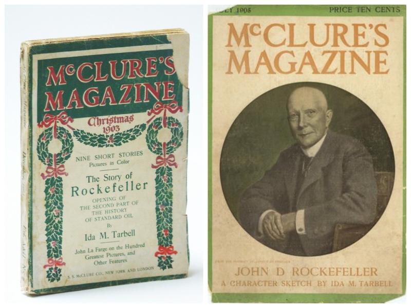 《麦克卢尔》杂志除了刊登塔贝尔对美孚石油的调查报道,还多次刊登她关于约翰·D.洛克菲勒的人物报道