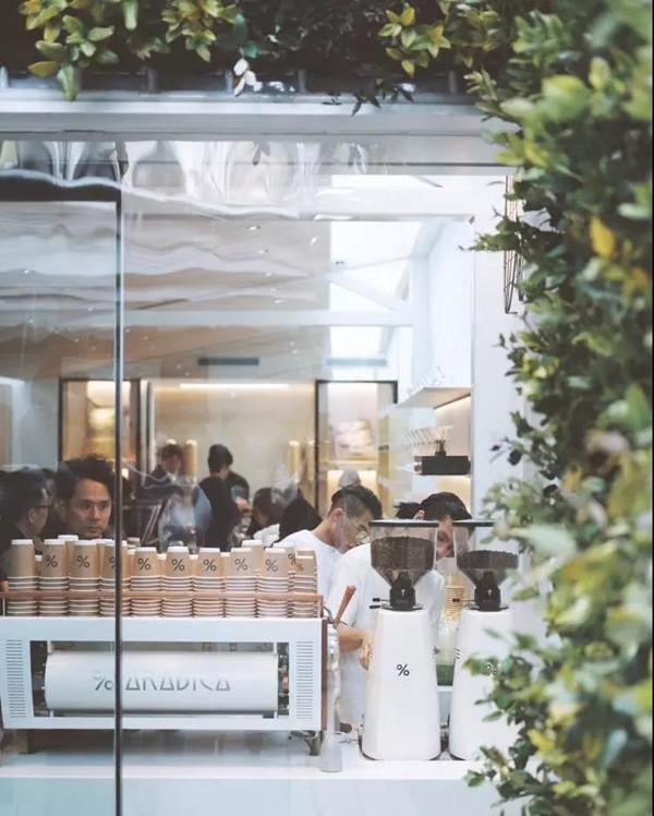来自日本的网红咖啡%Arabica上海首家门店。