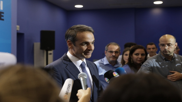 当选的希腊新一届总理米佐塔基思