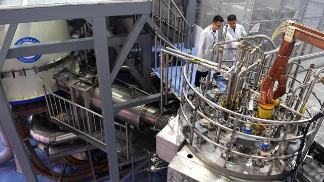 图为稳态强磁场实验装置,是合肥综合性国家科学中心建设的标志性科技基础设施