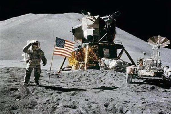 人类登月留影。来源:NASA