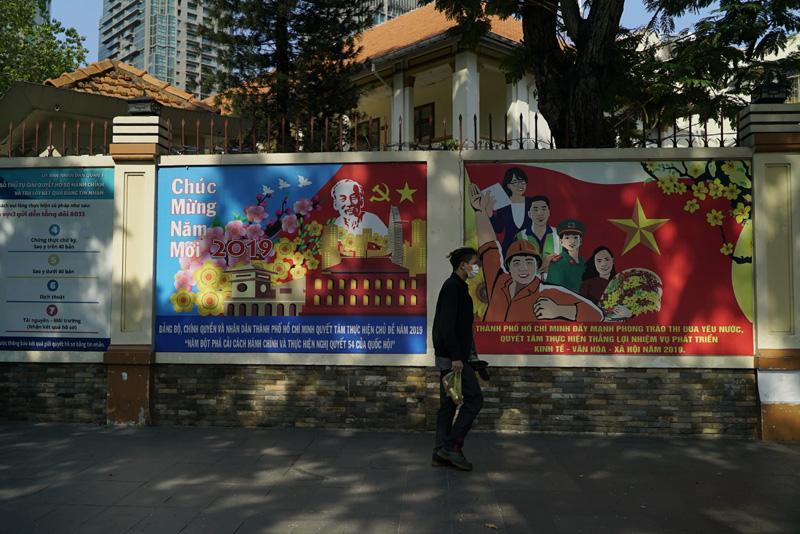越南胡志明市街头  摄影记者/胡军