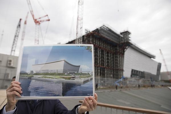 在建中的东京奥运新场馆。新华社资料