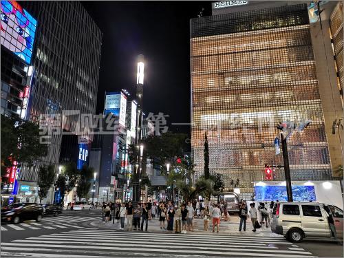东京银座的繁华街道。摄影/任玉明