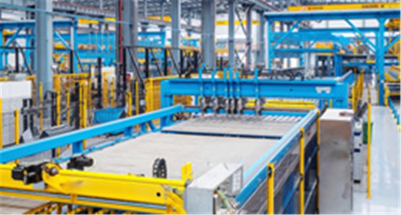 美好装配武汉江夏工厂引进德国叠合剪力墙技术和艾巴维、沃乐特生产设备及RIB信息化管理系统