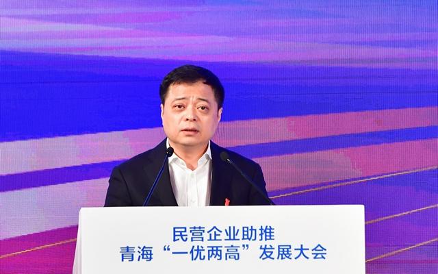 """南存辉在""""2019中国民营企业500强峰会""""上发言。"""