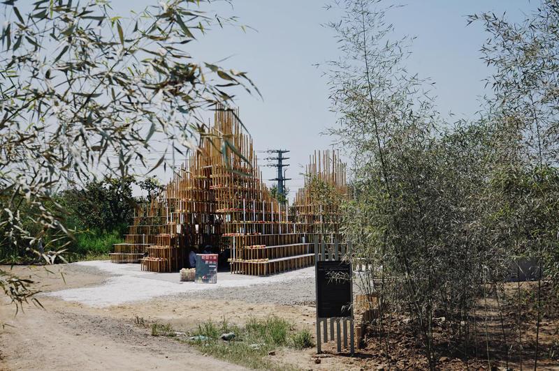 """华南理工大学和西班牙加泰罗尼亚建筑研究院合作的""""竹里馆"""""""