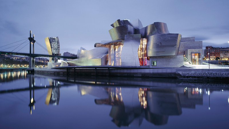 毕尔巴鄂古根海姆博物馆已成为欧洲文化领域的象征