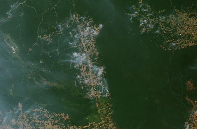 NASA从高空拍摄的亚马逊雨林(8月19日)
