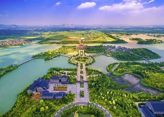 航拍潘安湖