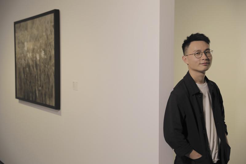 来自90后中国香港画家赖韦林的作品《无题》,获得了2018年大华银行年度水墨艺术大奖资深画家组铜奖  摄影/王晓东