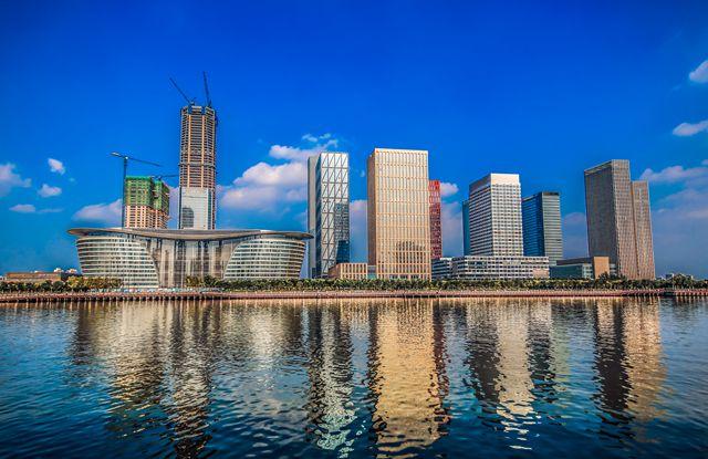 天津滨海新区中心商务区于家堡金融区