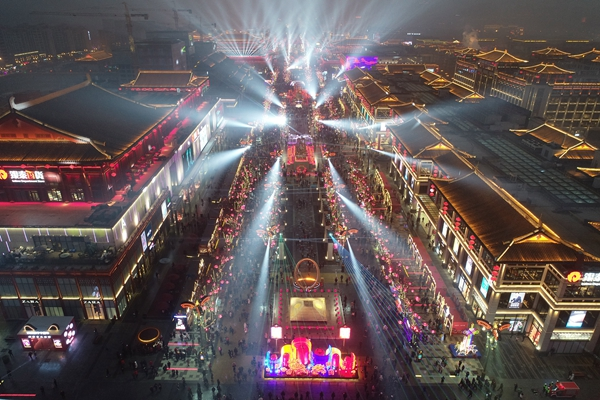 西安市曲江新區大唐不夜城步行街夜景。(本文圖片除署名外均來自新華社)