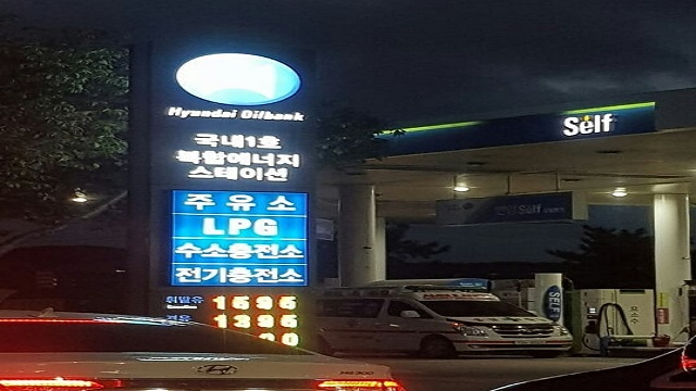 韩国首个加油、加气、加氢共同进行的加氢站(图/第一财经权小星)