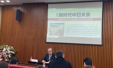 日本前首相福田康夫                             来源:演习记者胡天姣拍摄