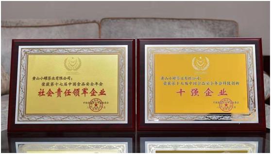 小罐茶荣获诚信示范单位及社会责任领军企业大奖