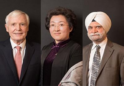 上訴機構成員:格雷厄姆(左) 趙宏(中)巴提亞(右)  來源:第一財經記者整合WTO網站