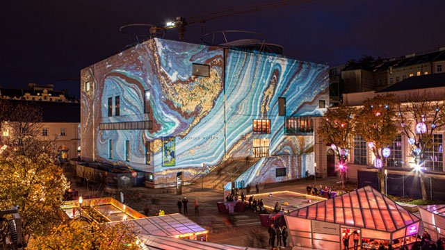 列奥波多博物馆夜景
