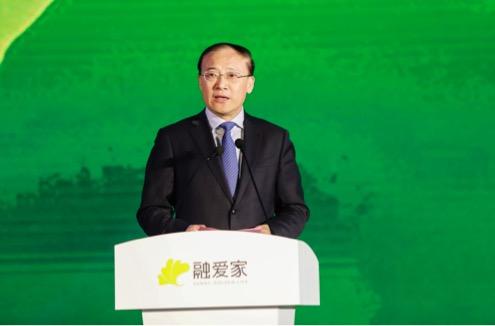 (图片说明:青岛西海岸新区管委主任、区长周安发表致辞)