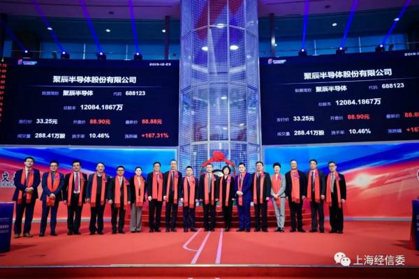 聚辰半导体是上海市集成电路领域第7家登陆科创板的企业。(图片来源:上海市经信委)
