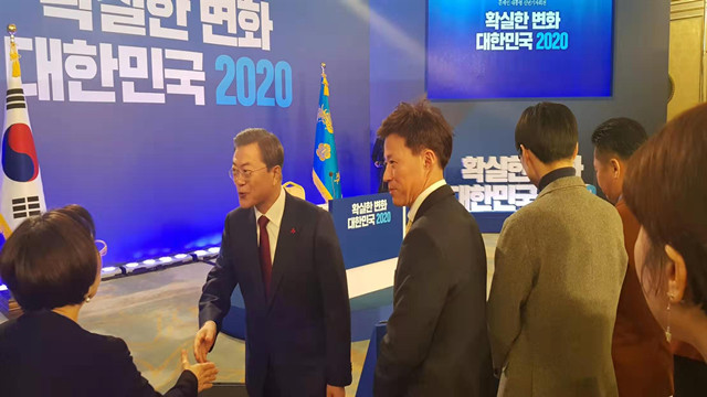 文在寅2020年记者会(权幼老婆/摄)