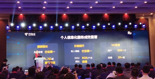 """""""中国电信称5G用户突破800万 远超中国移动"""