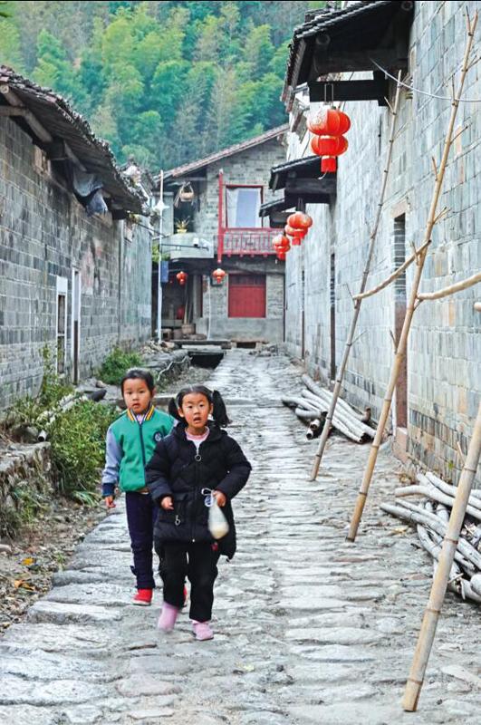 现在,闽赣交界处的洲湖村保留了不少传统修筑