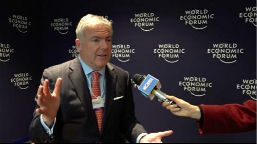 第一财经专访喜欢德曼全球总裁哈林顿。  摄影/王易帆