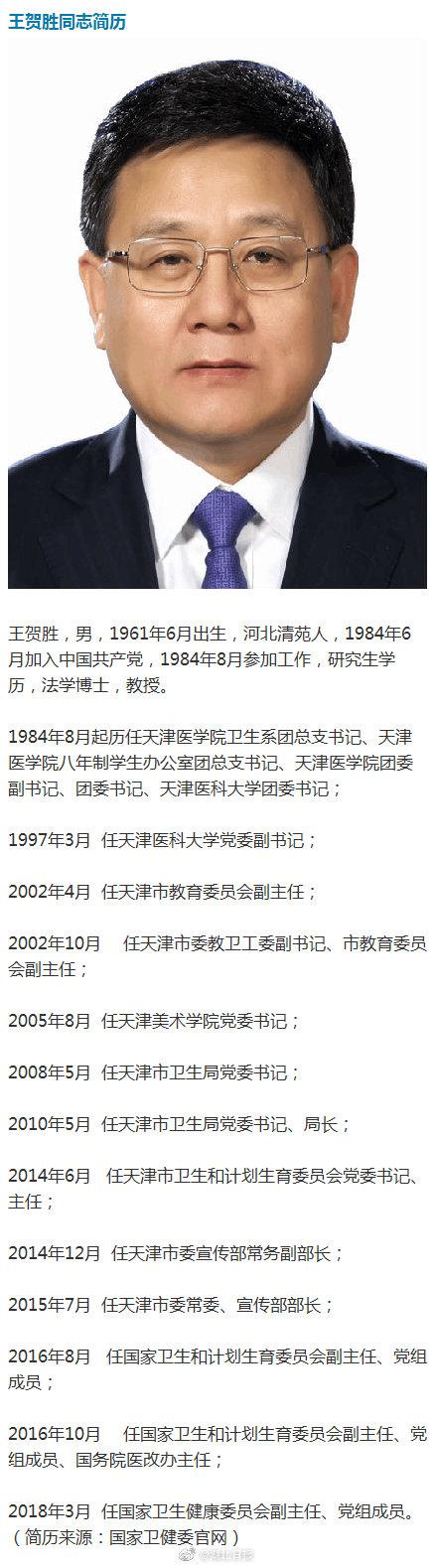 """要求支援医疗队""""零感染"""",王贺胜调任前已在武汉指导抗疫"""