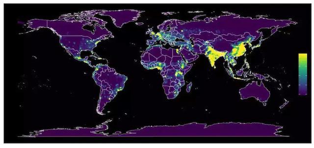 全球新冠疫情分布。图片来自网络@MedSci梅斯。