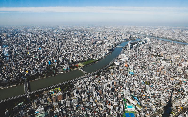 俯瞰东京   摄影记者/任玉明