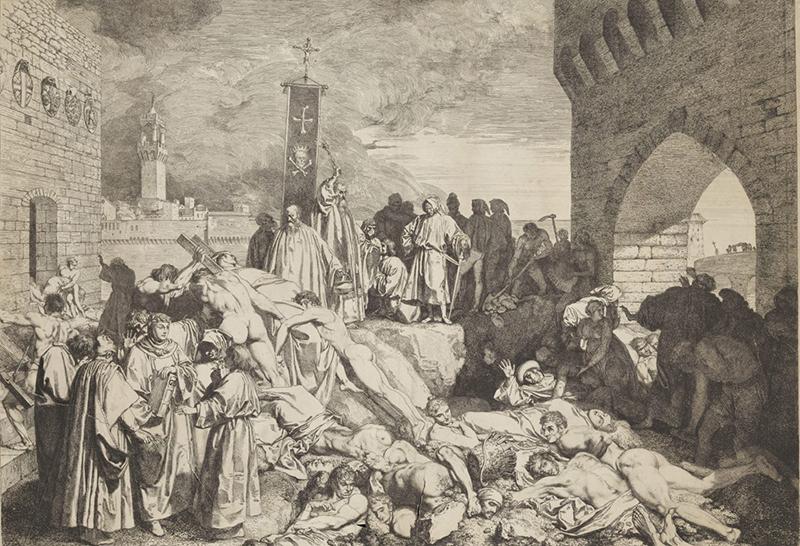 1346~1353年间,欧洲将近四分之一的人口被黑死病折磨、害死。
