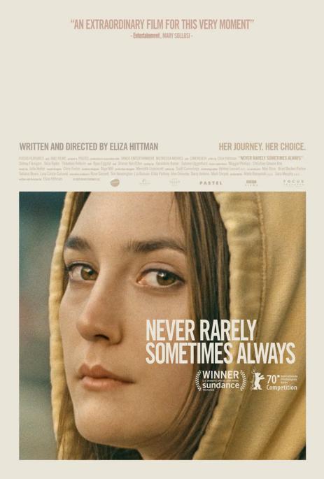 获得柏林电影节评审团大奖《从不,很少,有时,总是》3月13日北美上映,原定于4月3日大规模公映,如今改为线上点播。