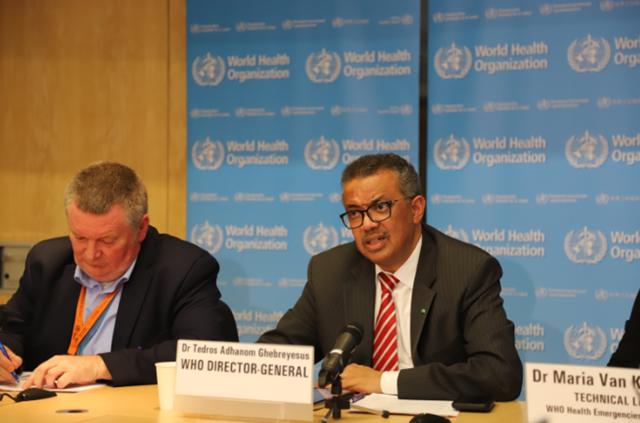 北京时间12日凌晨,世界卫生组织总干事谭德塞说,新冠肺炎疫情从特征上可称为大流行。新华社图。