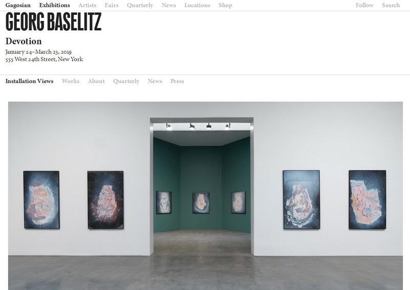 高古轩的线上展厅展示德国艺术家乔治·巴塞利兹的作品