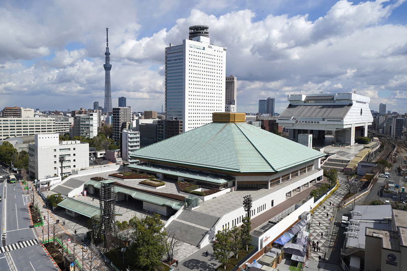 历史悠久的两国国技馆和日本武道馆,将在东京奥运会期间举办拳击和空手道比赛。  视觉中国图