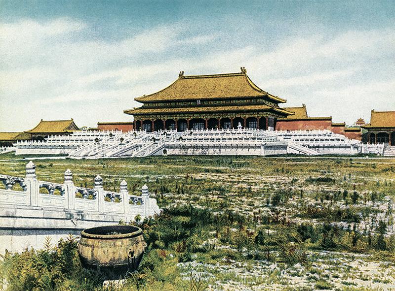 太和殿。[美]怀特兄弟:《燕京胜迹》,1927年,上海商务出版社。