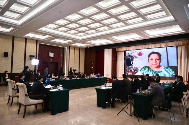 14日中国—拉美(墨西哥)国际贸易数字展览会开幕式现场