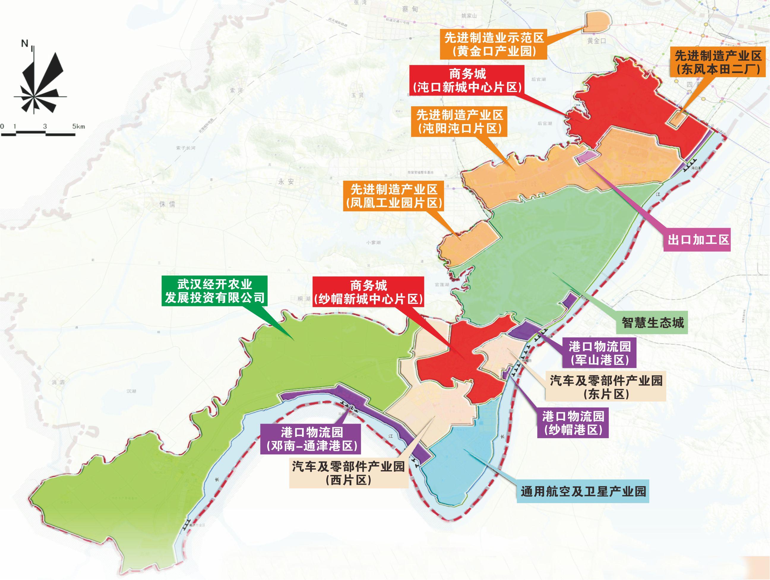 武汉开发区汽车零部件工业园规划图(图/武汉开发区官网)
