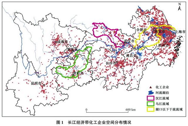 长江经济带化工企业空间分布情况 原料来源:中国环境科学钻研院