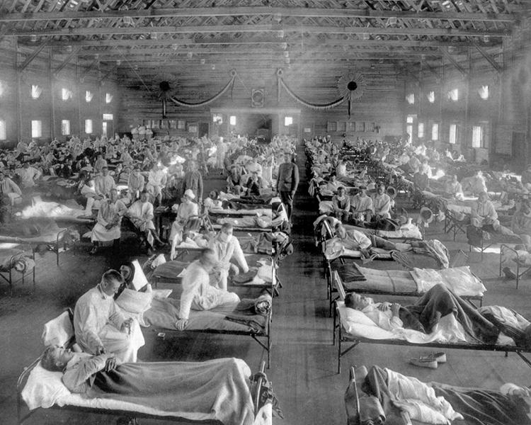 流感病毒第一次横扫军事基地