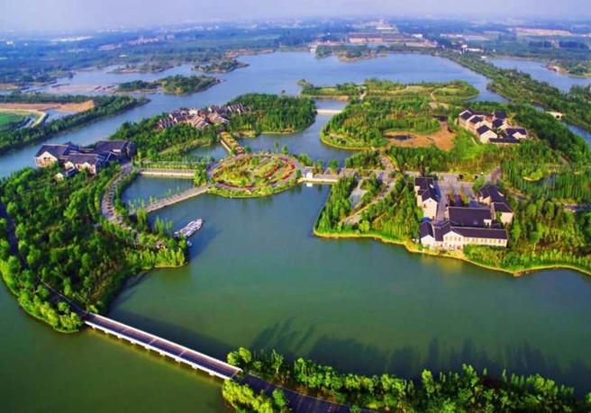 徐州潘安湖湿地航拍