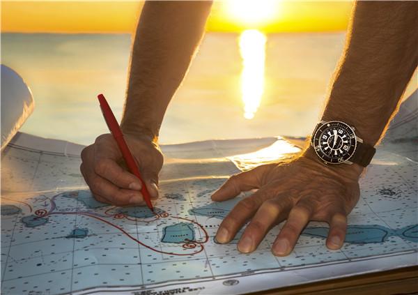蓝色大海与金色阳光  劳伦·巴列斯塔(LaurentBallesta)佩戴宝珀五十噚腕外制定潜水计划